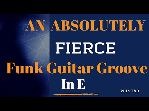 An absolutely fierce funk guitar groove in E