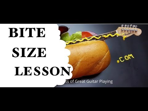 Bite sized lesson from tasty guitar