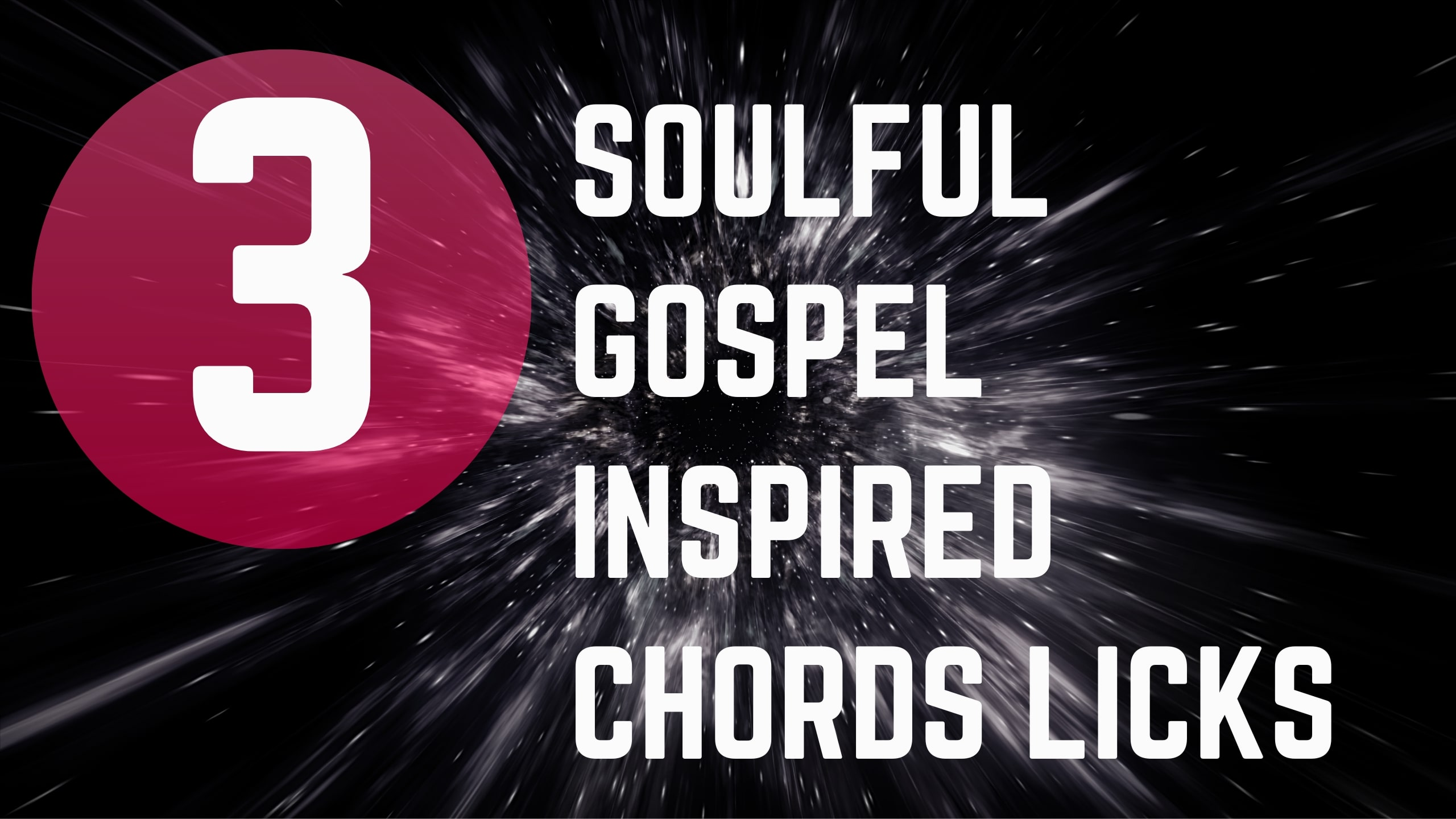 3 soulful gospel inspired chords licks